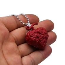 Anime One Piece Luffy Ace Law Devil Fruit Cursed Fruit Metal Bead Chain Pendant Men Women Necklace