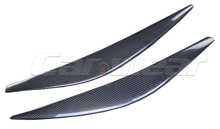REAL CARBON FIBER EYELID EYEBROW HEADLIGHT COVER FOR CHEVROLET CRUZE 2015 SKU 1011114