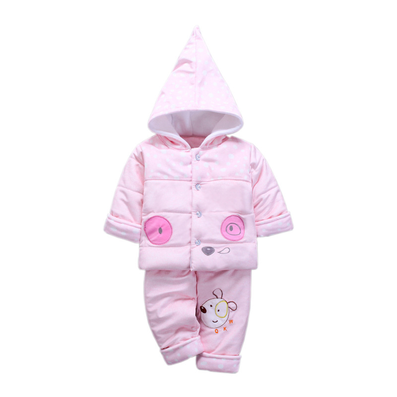 Autumn Winter Baby Clothes Set Long Sleeve Outdoor Baby Clothing Cartoon Dog Comfortable Cotton Clothes Sets For 3-12Months warm thicken baby rompers long sleeve organic cotton autumn