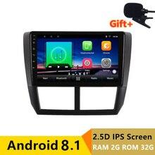 9 «2 + 32 ГБ 2.5D ips android 8,1 автомобильный dvd для Subaru Forester 2008 2009 2010-2012 Радио Навигация автомобиля стерео GPS; Мультимедийный проигрыватель