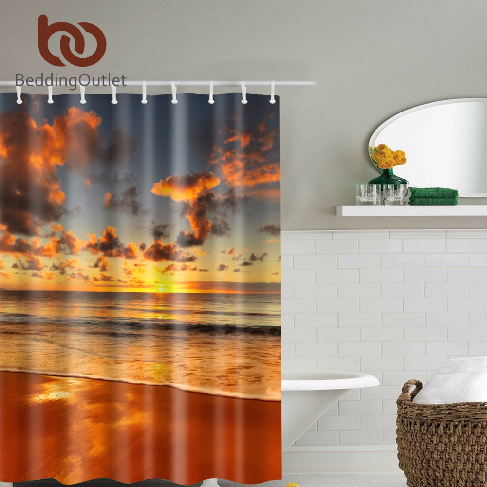 BeddingOutlet Mystical View of the Sunset Clouds Exotic Seaside Shower  Curtain Waterproof Polyester Bathroom Set Home Decor 71. Online Get Cheap Exotic Bathroom  Aliexpress com   Alibaba Group