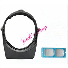 Free Shipping OptiVisor Professional Magnifier Eye Loupe Hands Free Headband for Jewelers and Watchmakers choose size