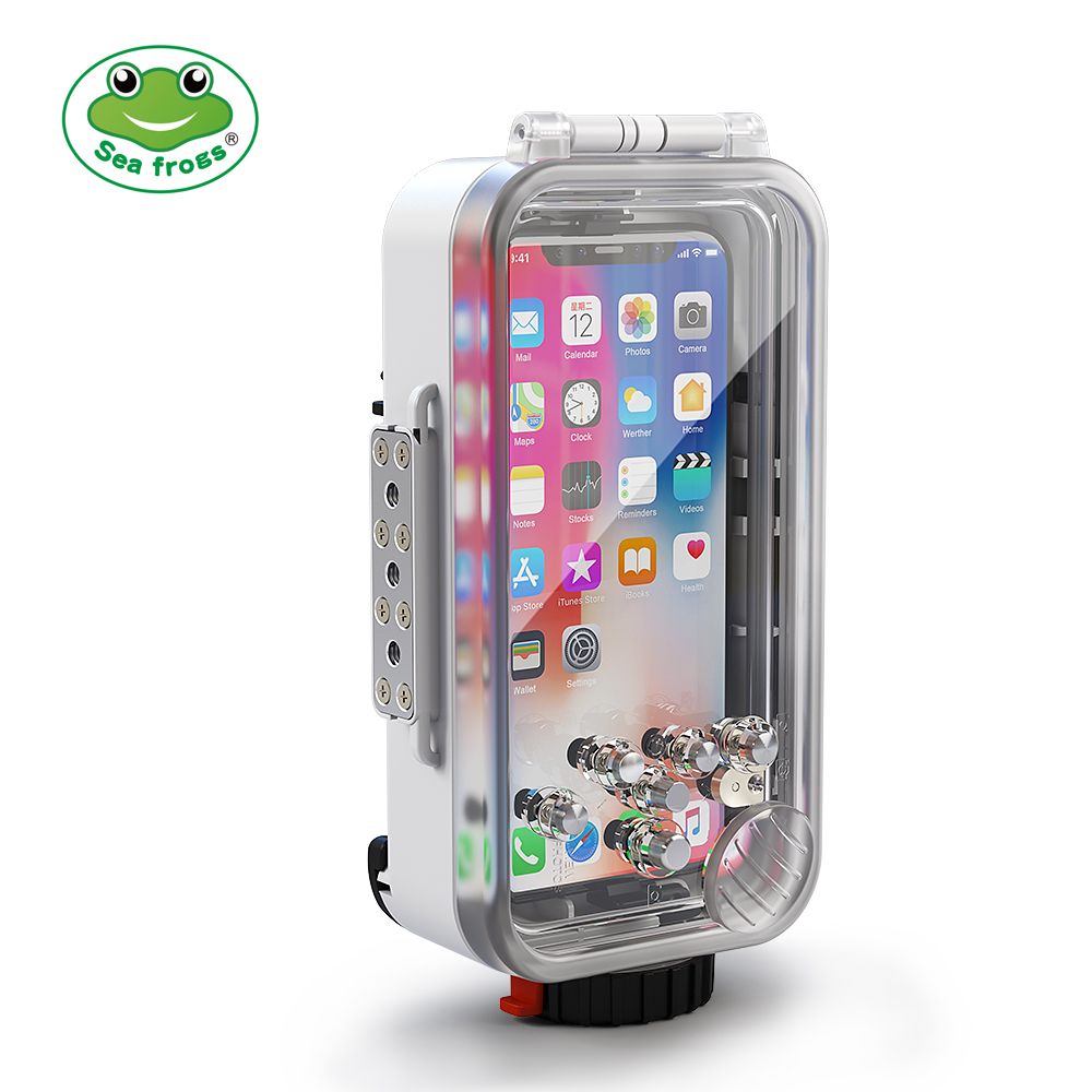 For iPhone X  Case Waterproof Mobile Phone Housing Diving Protective Cover 60M Underwater Photography Cellphone Case 1pc