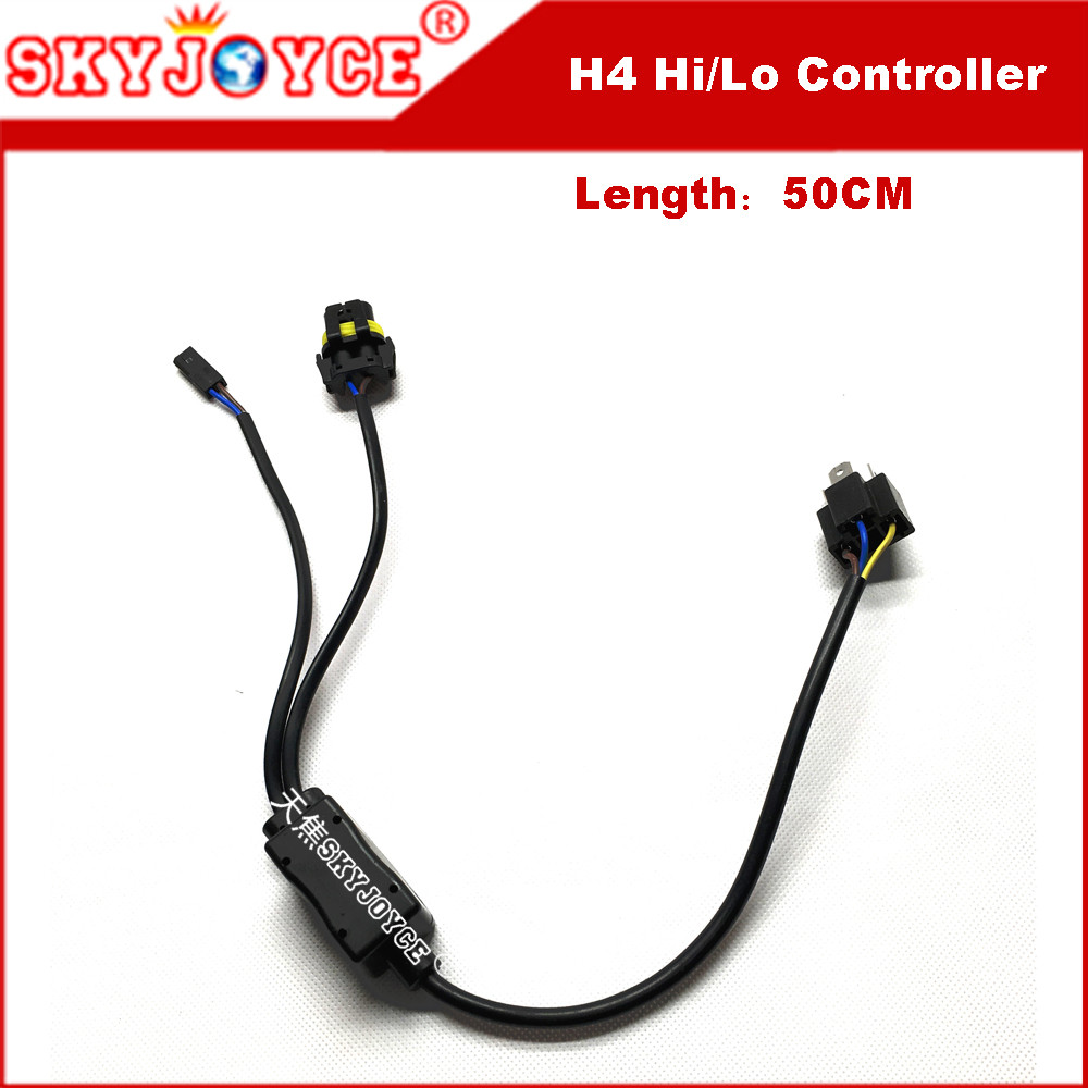 1 For 1 12v 35w Hid Bi Xenon H4 Wire Harness Controller