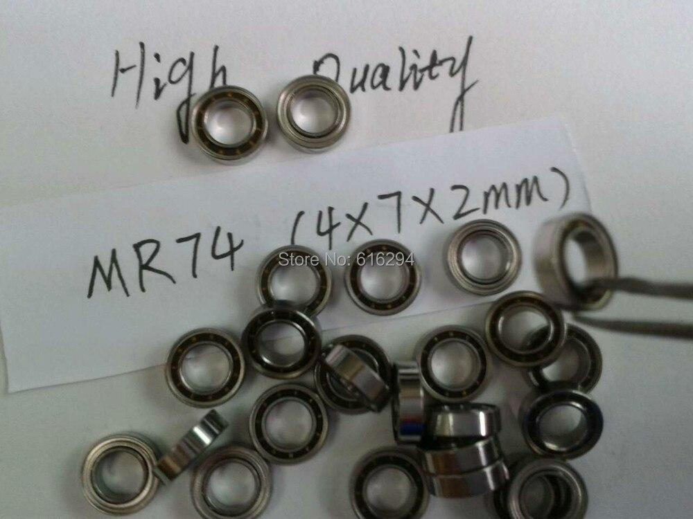 40PCS  High Quality MR74/L-740 Mini Ball Bearings   4 X 7 X 2mm MR74 Bearing --Free Shipping