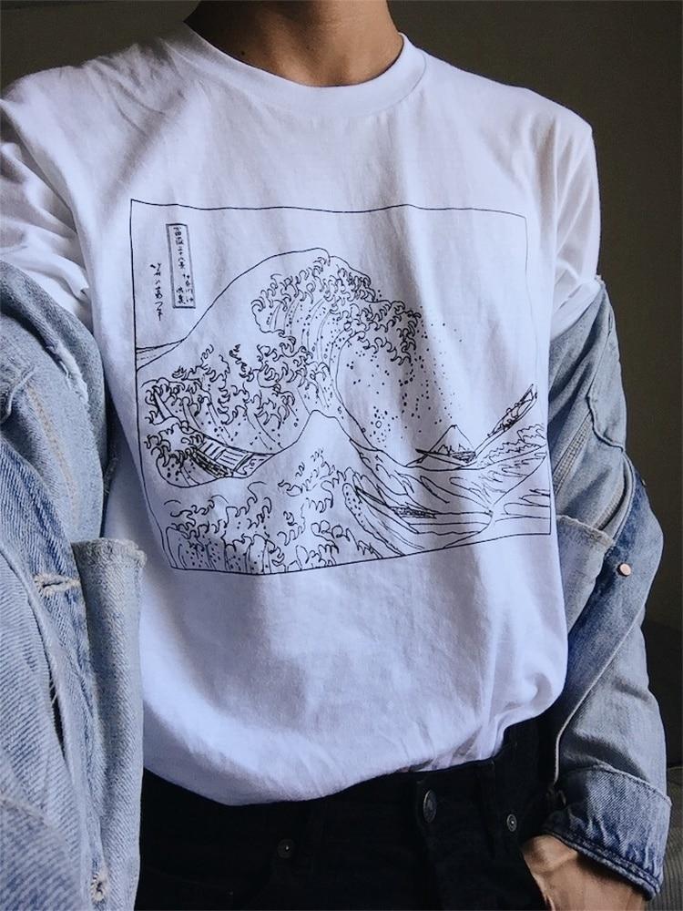 Fuji Grunge Short-Sleeve Unisex T-Shirt T Shirt Mt