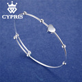 Promotion  Fashion  silver Bracelet Bangles Heart Women Wholesale Price Free shipping Factory Direct Sale CYPRIS Fine jewelry