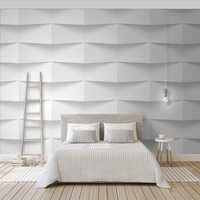 3D abstract concavo-convex geometrical solid northern European background wall