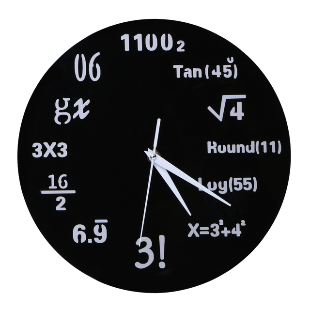 Kreatif Rumus Matematika Wall Clock Acrylic Cermin Dinding Stiker Jam  Dinding Jam Dinding untuk Ruang Tamu 08a9548fe3