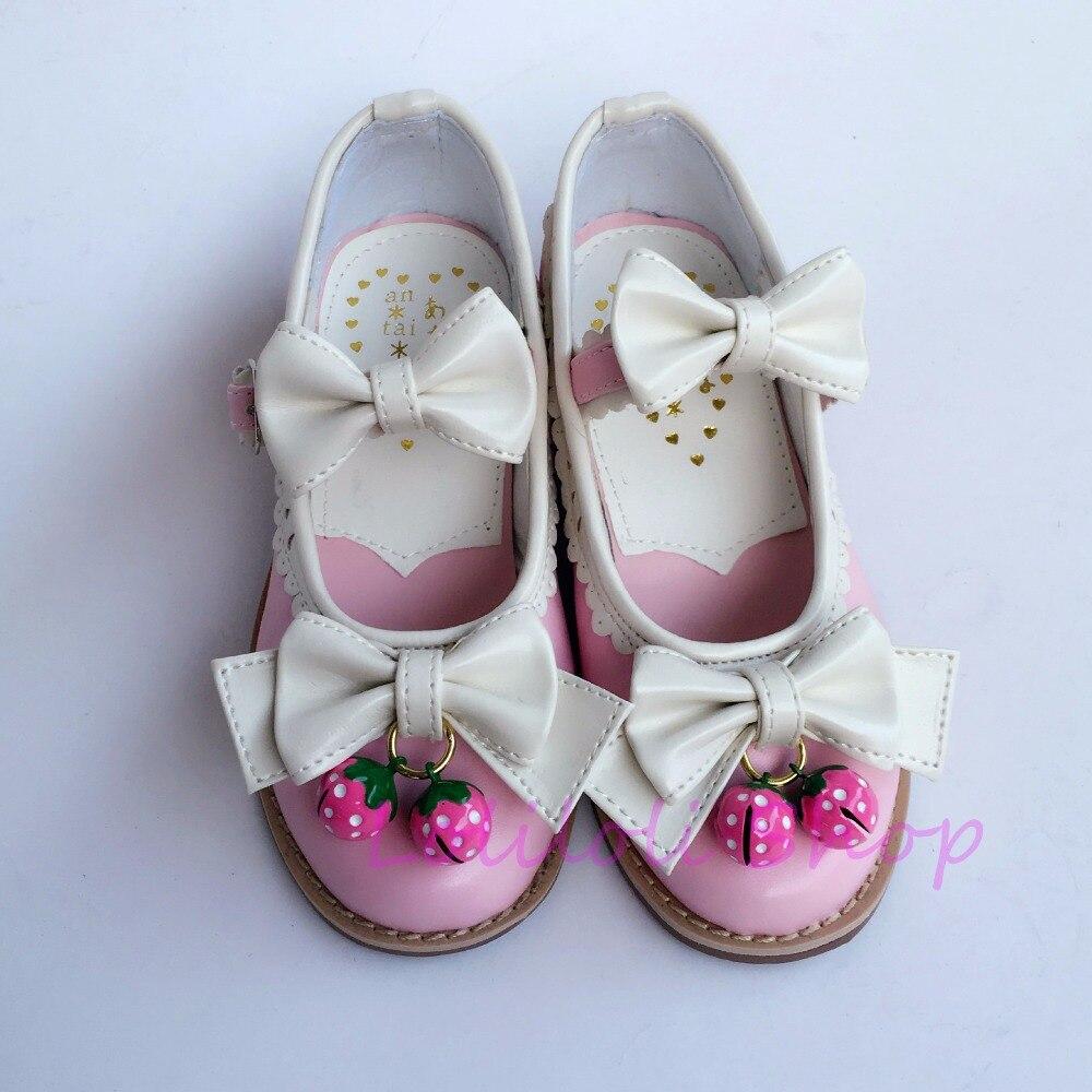 Blanc Avec Boucle Yoyo Princesse Talons Doux Cloches Peau Punk Hauts Rose Sangle Lumineuse An9955 À Multi Loliloli Chaussures wxpqB1n