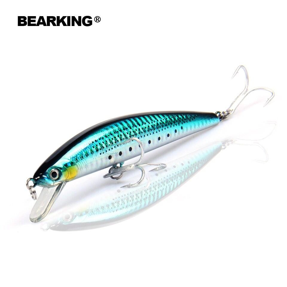 Bearking 1 PZ 11 cm 18g Hard Fishing Lure Crank Esca tuffo 1.8 m Fiume Lago Pesca Wobblers Esche per la Pesca Alla Carpa diversi colori
