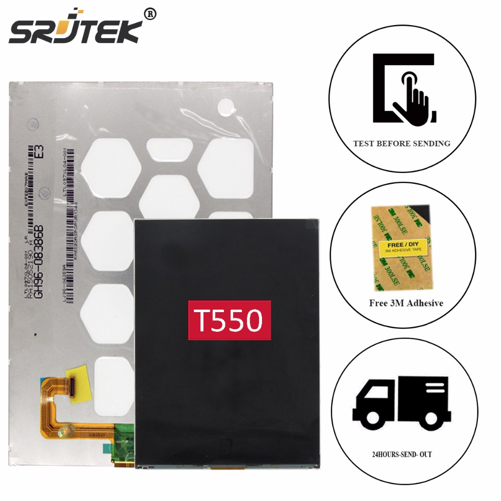 Srjtek 9.7 For Samsung Galaxy Tab A 9.7 SM-T550 T550 T551 T555 LCD Display Panel Screen Monitor Modle Matrix Tablet Replacement