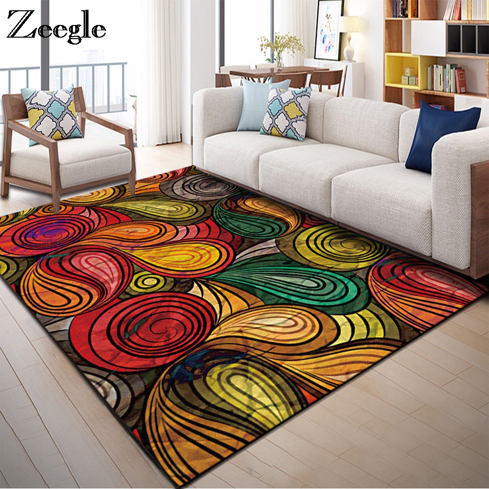 Zeegle Carpets For Living Room Sofa Table Area Rug Home Decor Floor Mats Carpets Kids Room Anti-slip Mats Bedroom Berside Rug