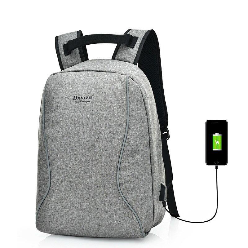 Anti-Theft USB Charging Men 15.6 Inch Laptop Backpacks Multifunction Fashion Canvas Travel Women School Bags Mochila Feminina