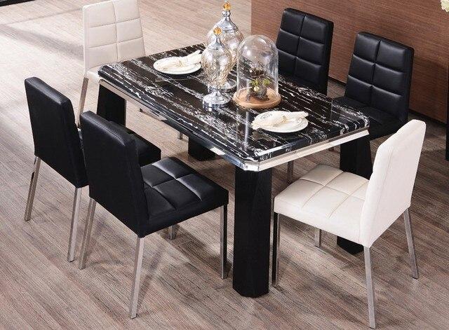 € 130.44 |Chaise de salle à manger, Style sirène en cuir PU, chaise de  salle à manger moderne, noir, blanc, motif Crocodile, offre spéciale ...