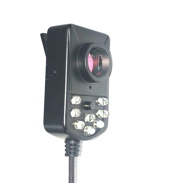Wearable infrared night vision clip wearable cameras / 5V 700tvl for mobile video surveillance