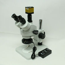 Buy Continuous Zoom Binocular Visual 7X-45X Trinocular Stereo Microscope+1080P 60FPS  HDMI Industrial Microscope Camera+LED Light