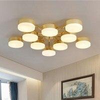 Офисные светодиодные золотые потолочный светильник люстра светодиодные золотые купольные светильники Слива лампа цветение гостиная стол