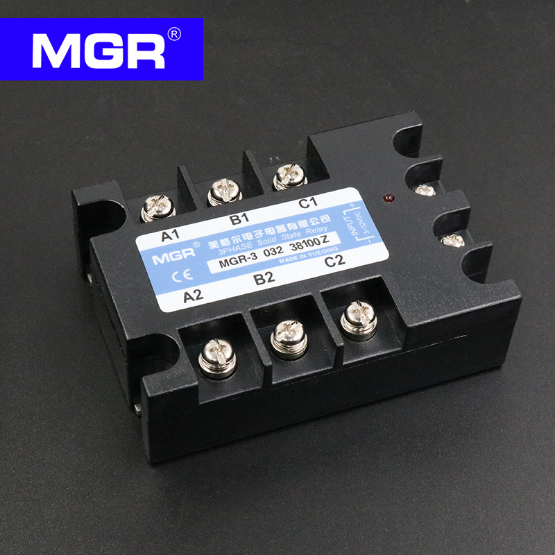 MGR Three-phase solid state relay 380V 100A DC control AC MGR-3 032 38100Z genuine three phase solid state relay mgr 3 032 3880z dc ac dc control ac 80a