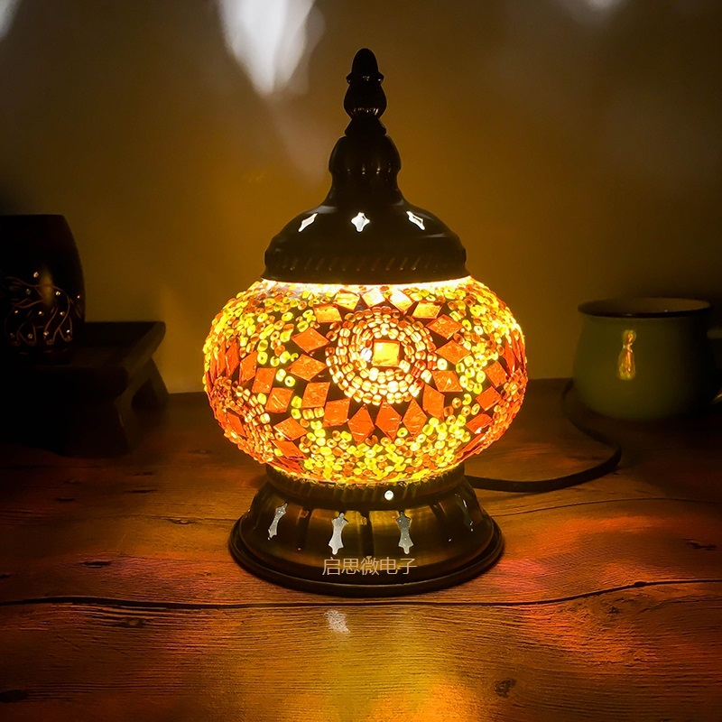 2018 Newest E14 Hand-inlaid glass mosaic bedroom living room decorative Night Lamps of Mediterranean style Turkish Lamps2018 Newest E14 Hand-inlaid glass mosaic bedroom living room decorative Night Lamps of Mediterranean style Turkish Lamps