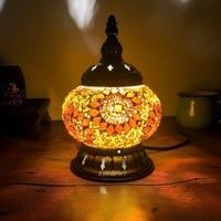 2018 mais novo e14 mão incrustada mosaico de vidro quarto sala de estar decorativa noite lâmpadas de estilo mediterrâneo lâmpadas turcas|bedroom lamp|turkish mosaic lamps|turkish glass lamps -