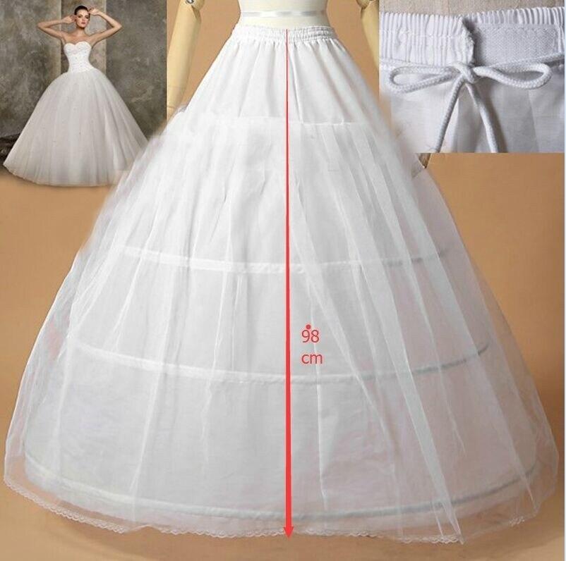taille jupon jupon de marie livraison blanc 3 hoops jupons pour robe de marie robe de - Jupon Mariage 3 Cerceaux