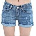 Танго лето женщины джинсовые шорты середине талии женские свободного покроя шорты размер 26 - 32