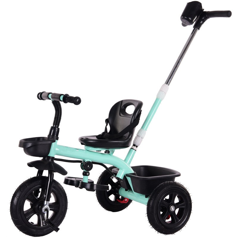 Multifunction Baby Child Tricycle Bike Without Umbrella Safe Seat With Belt Three Wheels Tricycle Stroller For 1-6 Years Old