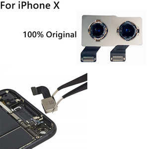 Image 4 - 100% Original New Back Rear Camera For iPhone X Back Camera Module Flex Cable Replacement Part (Tested OK) Free shipping