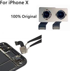 Image 4 - 100% oryginalny nowy powrót tylna kamera dla iPhone X powrót moduł aparatu Flex Cable wymiana część (testowane OK) darmowa wysyłka