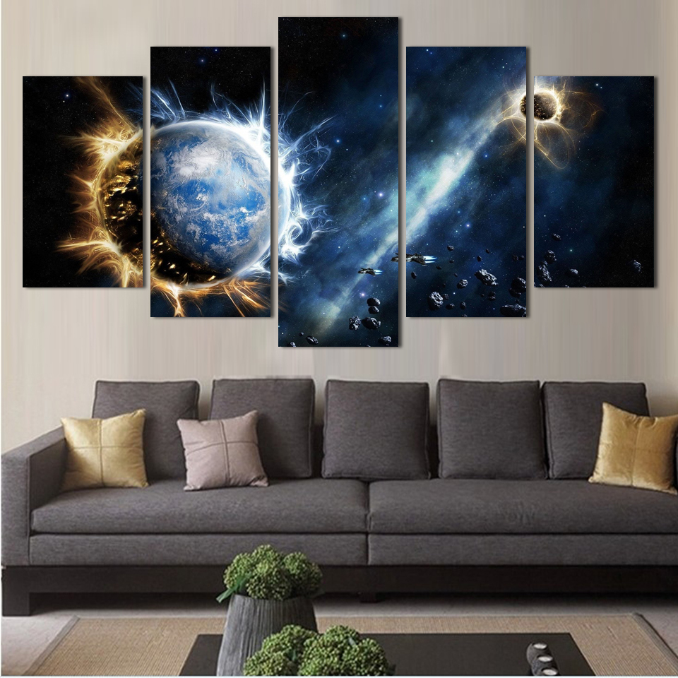 Modern Art Paintings For Living Room Online Get Cheap Space Art Paintings Aliexpresscom Alibaba Group