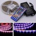 Светодиодная лента, 5 м, 3014, 4 ряда, RGBW, IP65 + контроллер 40 клавиш + 5A, 12 В, мощность США