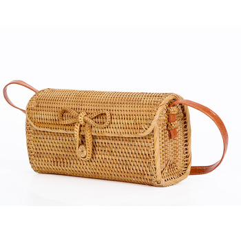 Vietnam Rattan bag Summer Straw Bag Holiday Handbags Wicker Cross Body Bags Bali Small Handmade Beach Bag for Women