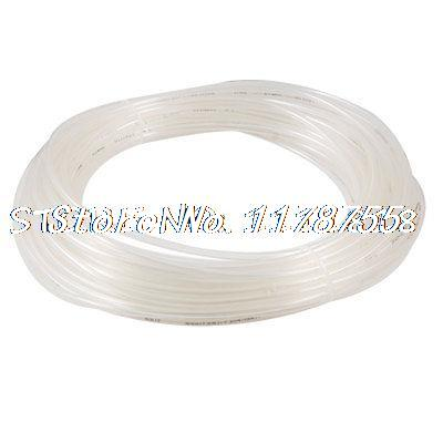 Transparent 6mm OD 4mm ID 25M 82Ft Pneumatic PU Air Tube Hose black 6mm od x 4mm id fleaxible pu air tube pneumatic hose 15m length free shipping