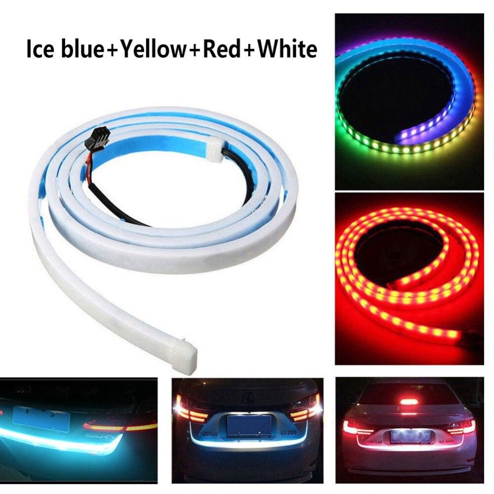 12V Car Flow Type LED Strip Tailgate Turning Signal Lights Bar Trunk Strips Lamp