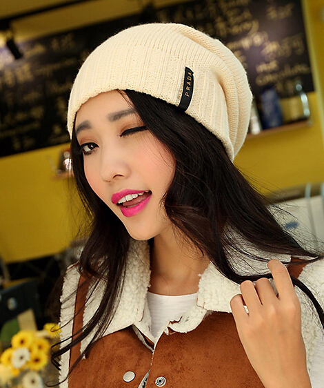 Fashionable joker ladies knitting wool cap Autumn and winter warm outside hat cool 1pcs brand new arrive