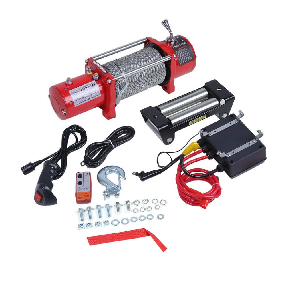 Newest 12V Electrical Winch Wire Rope Capacity Up To 13000 Pound With Remote Control Cars Off-Road Engines Lift Winch