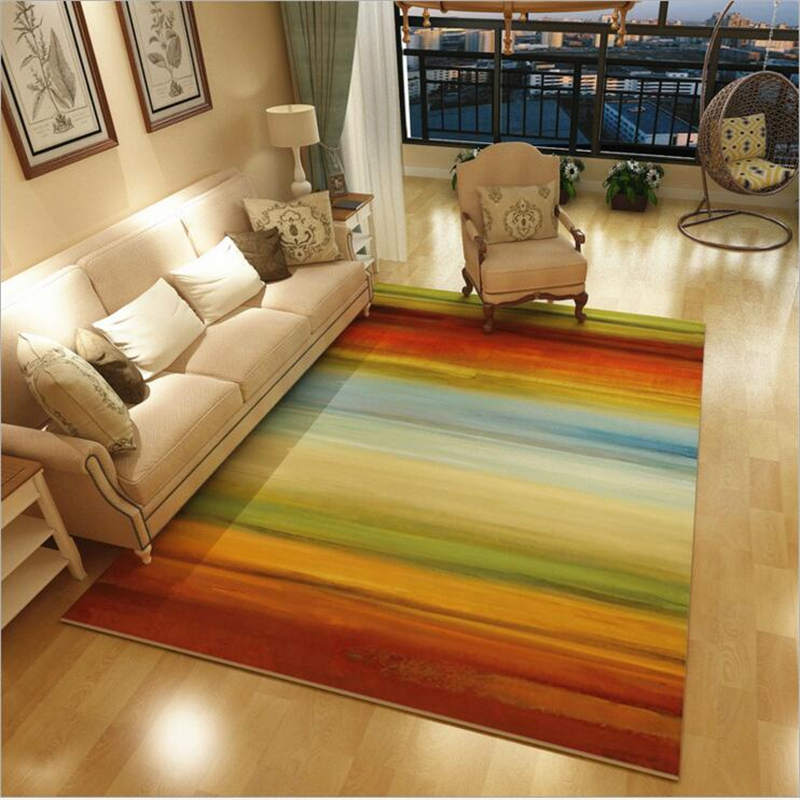 New Fashion Abstract Print Large American Style Modern Soft Carpet For Living Room Bedroom Kid Play Delicate Rug Home Floor Mat