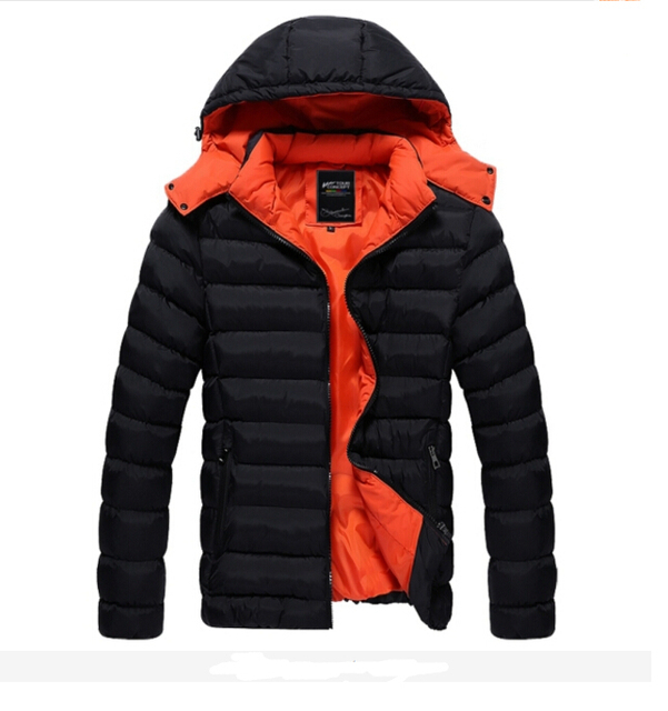 TFGS 2016 Men Winter Down Coats Men's Cotton Outerwear Large Size M-XXL Super Warm Hooded Design Man Thick Jacket