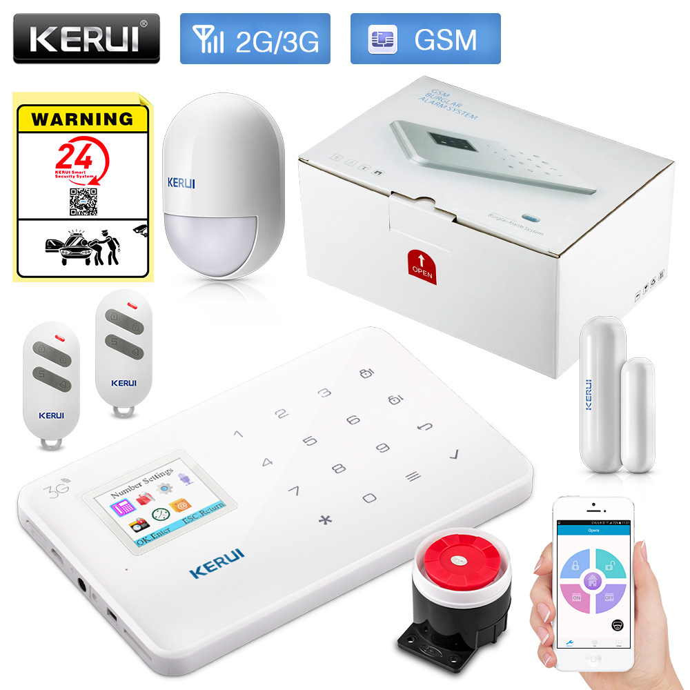 KERUI G183 WCDMA 3G APP Remote Control Wireless Smart Home Security GSM 3G Alarm System Burglar Alarm Pir Motion Sensor Alarm