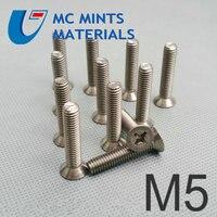 24pcs M5 x6 40mm Ti Bolt Titanium Bolt Flat Cross Head Original Ti Color Not Polished Grade 2 Titanium Screw Ti Fastener