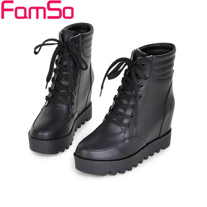 Plus Size34 43 2016 new Fashion font b Women b font Boots High Heels Lady Casual