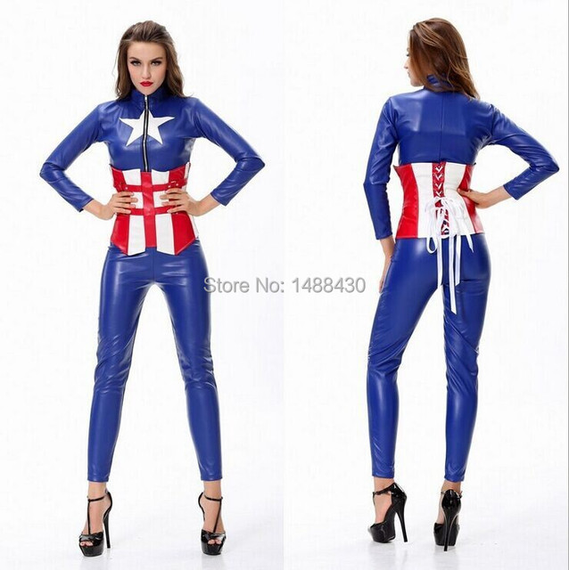 hot sale adult halloween costumes for women cosplay costume captain america avengers female warrior woman suit