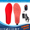 1800mA Wireless Remote Type Battery Powered Heating Insoles RED Memory Foam Material EUR Large Size 41