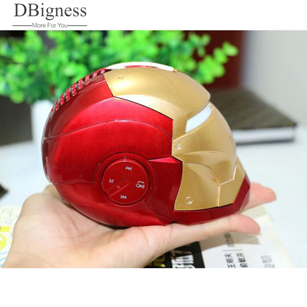 Dbigness Iron Man Wireless Bluetooth Speaker bass Cartoon Gift Mini Shape Portable with TF FM for iphone xiaomi Toys Loudspeaker