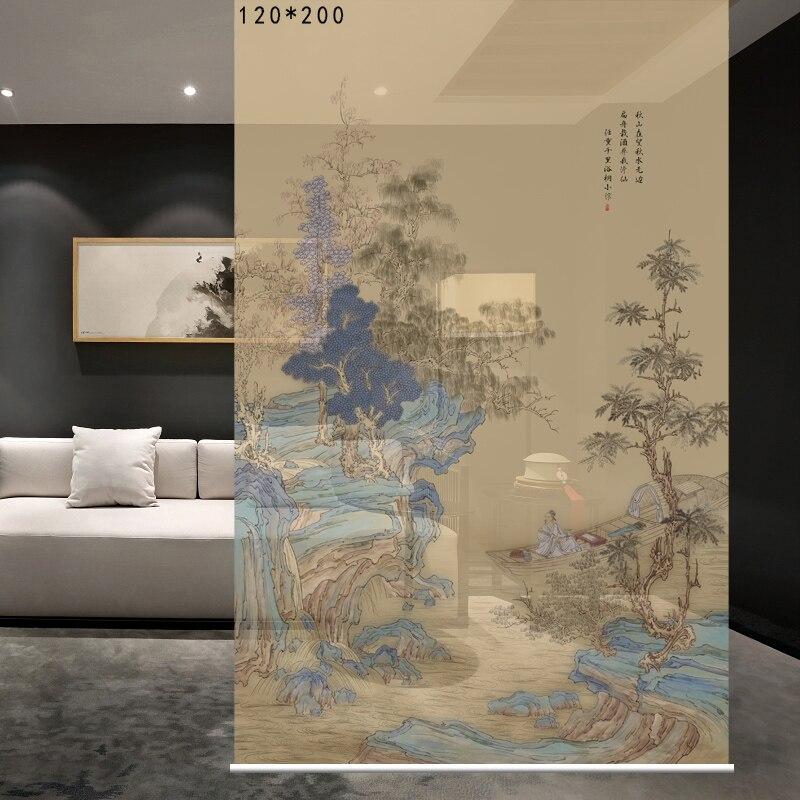 100 cm x 200 cm salon suspendu rideau chambre diviser Biombo écran modèles conceptions fenêtre Partition rideau translucide doux