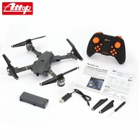 Attop XT 1 2.4GHz 6 axis Gyro Foldable Drone Wi Fi 2MP HD Camera FPV RC Quadcopter with Headless Mode Altitude Hold 3D Flips hz
