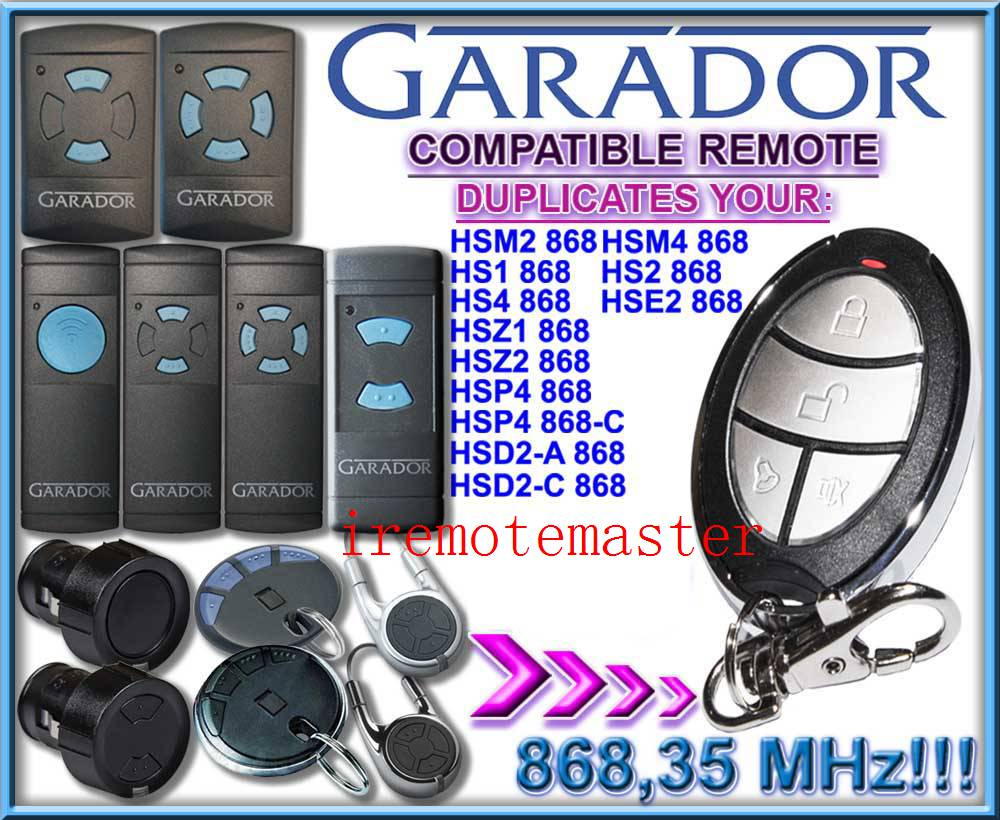 For GARADOR hsm2 868, hsm4 868 remote duplicator free shipping