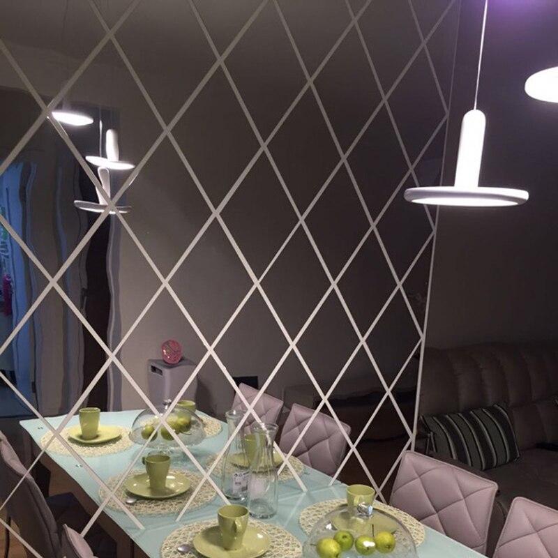diamond wall mirror shape sticker background decor living decoration restaurant 3d stickers