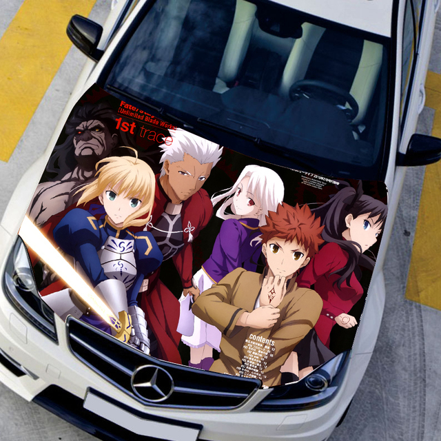 Diy 3d bumper sticker vinyl film hood ornaments fate stay night graffiti car stickers funny
